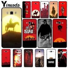 Yinuoda Hot Red Dead Redemption 2 Hitam Lembut Silicone Ponsel Cover untuk Samsung Galaxy J6plus J7 J8 J2 Prime J4plus 2018 Tritone(China)