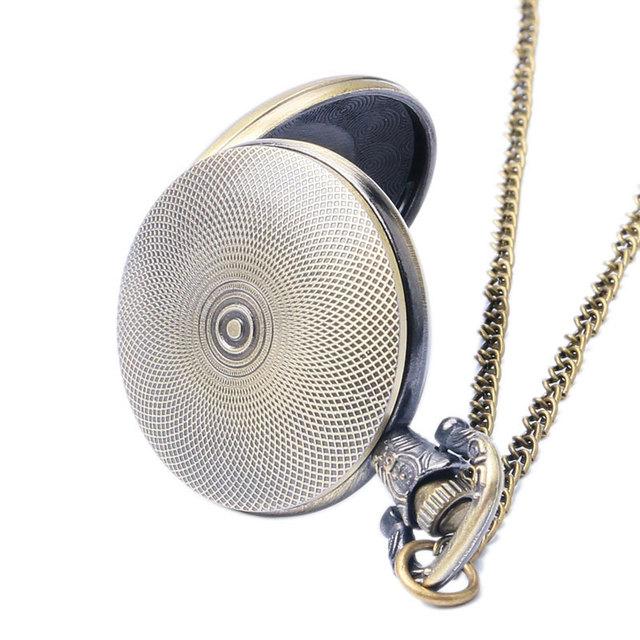 2017 Xmas Gift Steampunk Wheel Gear Fashion Pocket Watch Clock Hour Quartz Watches Men Women Dropshipping Free Shipping