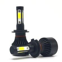 4 стороны 10000lm h11 светодиодные лампы фар автомобиля h7 led высокой мощности 100 Вт h4 9005/hb3 9006/ hb4 H11 Туман свет лампы 12 v 6500 k авто лампы