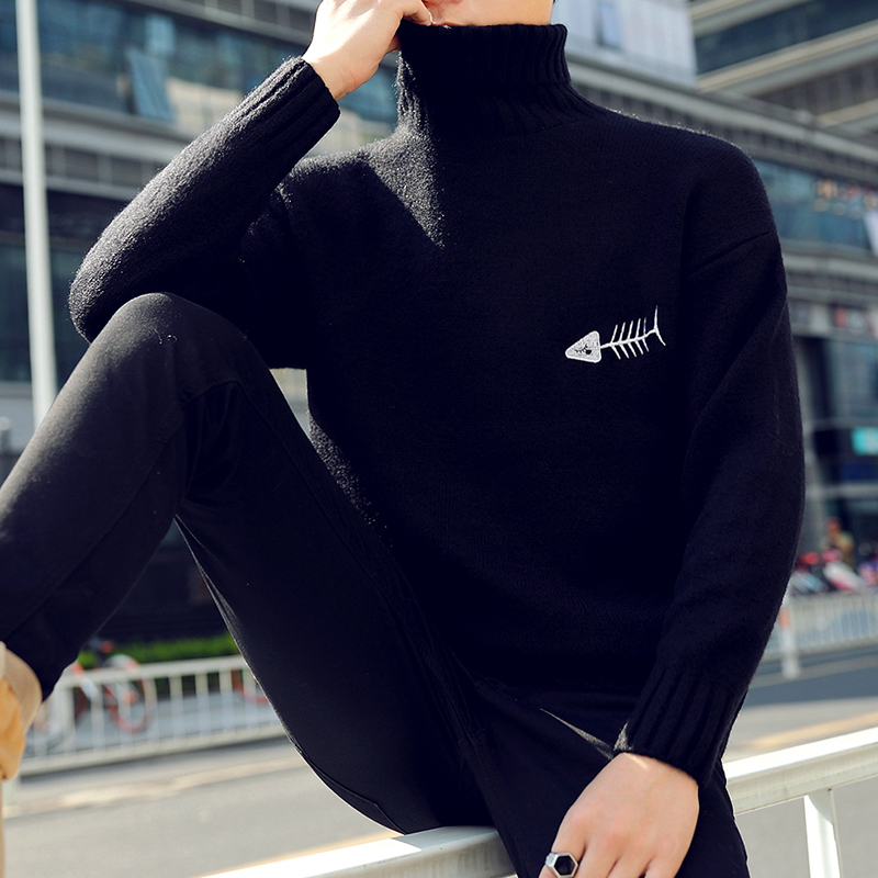 Image 2 - 2019 New Winter Thick Warm Cashmere Sweater Men Turtleneck Printed Mens Christmas Sweaters High Quality Fashion Men's Pullovers-in Pullovers from Men's Clothing