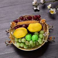 European Ceramic Fruit Foods Storage Decor Tray Modern Home Living Room Coffee Table Desktop Practical Decoration Ornaments Tray