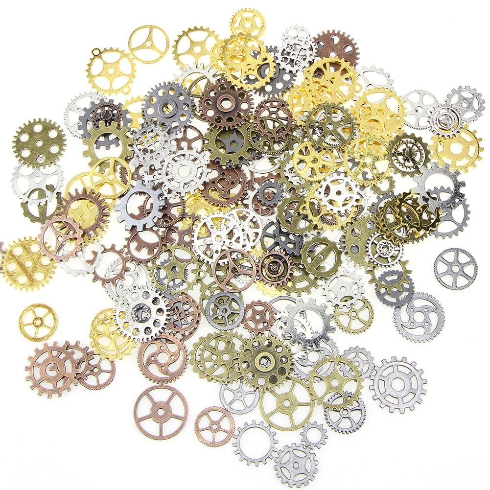 1 Lot Mix Alloy Gear Craft Vintage Bracelet Accessories Steampunk Jewelry Mechanical Old Parts DIY Wrist Watch Wheels Pendant