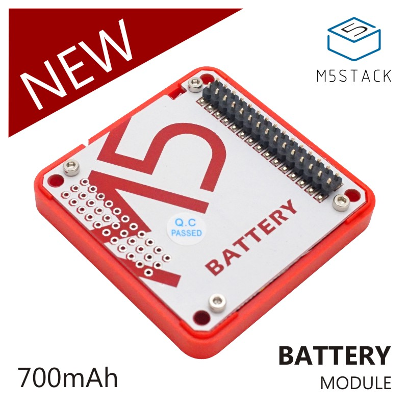 M5Stack Official In Stock! Battery Module For Arduino ESP32 Core Development Kit Capacity 700mAh Stackable IoT Development Board