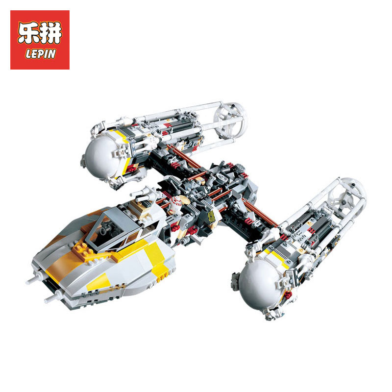 Lepin 05040 Star Wars Series Attack Y Star wing starfighter model Building kits Block Assembled Brick Toy Gift LegoINGlys 10134