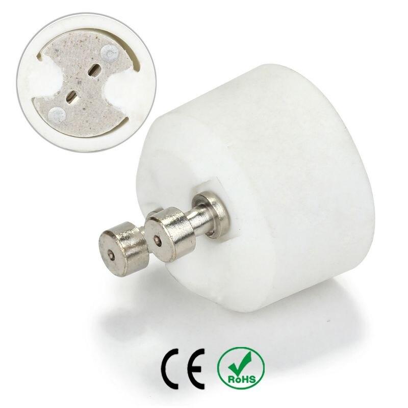 GU10 to MR16 Lamp Base Socket Bulb Holder Adapter Fireproof Material Halogen LED Light Adapter Converter