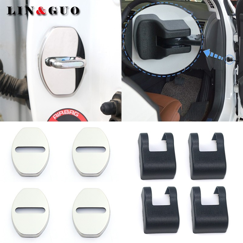 8pcs Case For Skoda Octavia Fabia Rapid Yeti Superb Stainless Steel Protect Door Lock Cover Accessories Car Styling