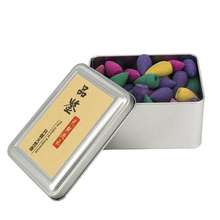 Mixed 80Pcs Colored Smoke Backflow Incense Cones Natural Aroma Reflux Tower Incense Bullets Lavender Jasmine Green