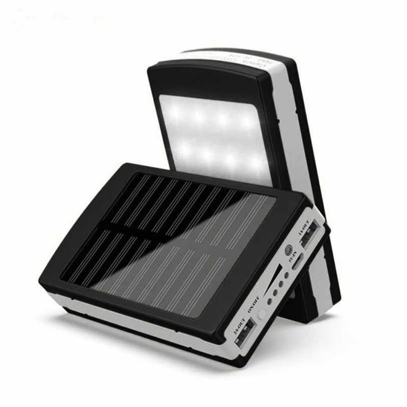 5V 2A Solar LED Portable Dual USB Power Bank 5x18650 External Battery Charger DIY Box 125*75*25mm