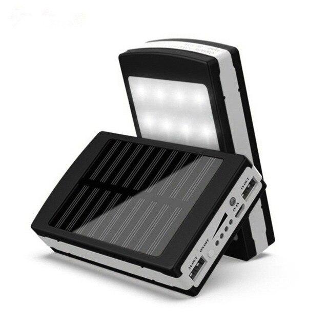 5V 2A Solar LED Portable Dual USB Power Bank 5x18650 External Battery Charger DIY Box