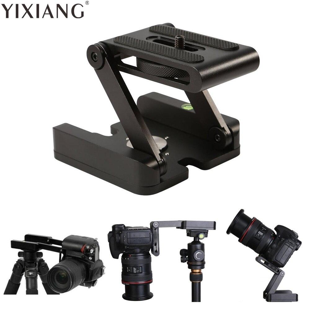 YIXIANG Z type tilt trépied tête Flex pliage Z pan pour Canon Nikon Sony DSLR caméra En Aluminium alliage Top qualité en métal garanti