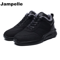 Jampelle New Men Women Lovers Shoes Winter Comfortable Keep Warm Shoes Suede Ankle Lace Up Sport