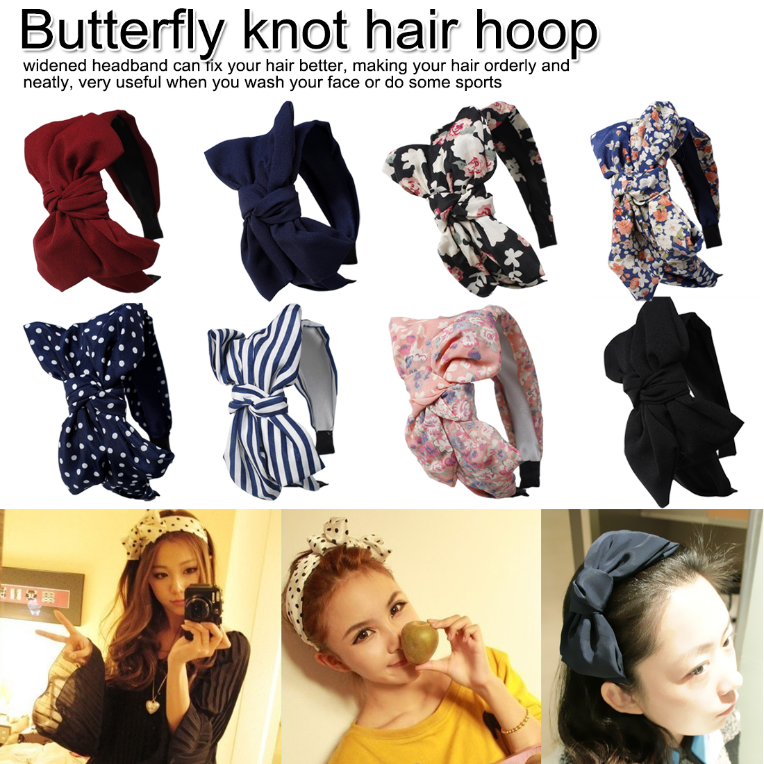 Women Headband Twist Hairband Bow Knot Cross Tie Cloth Head wrap Girls Hair Band Hoop Knitted Wide-brimmed  hair hoop