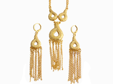 Fansheng Ethiopian Luxury charm  Bridal/party Necklace/Indian/African Earring In Dubai and Ethiopia/Nigeria / Arabic Jewelry Set