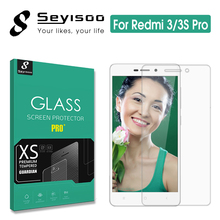 100% Original Seyisoo 2.5D Highly Responsive Screen Protector Tempered Glass For Xiaomi Redmi 3 Pro 3S 3X Xiomi Redmi3 S X Film