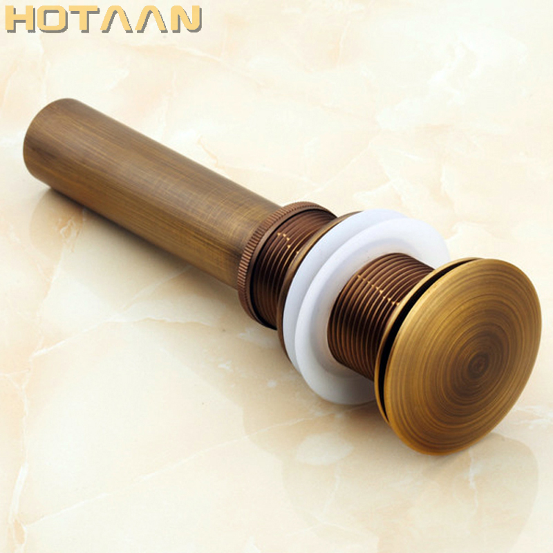 Free Shipping Antique Bathroom Brass Pop Up Sink Drain Brass Pop-up Drain basin waste YT-5141 free shipping wholesale and retail solid brass bathroom lavatory sink pop up drain rose gold color