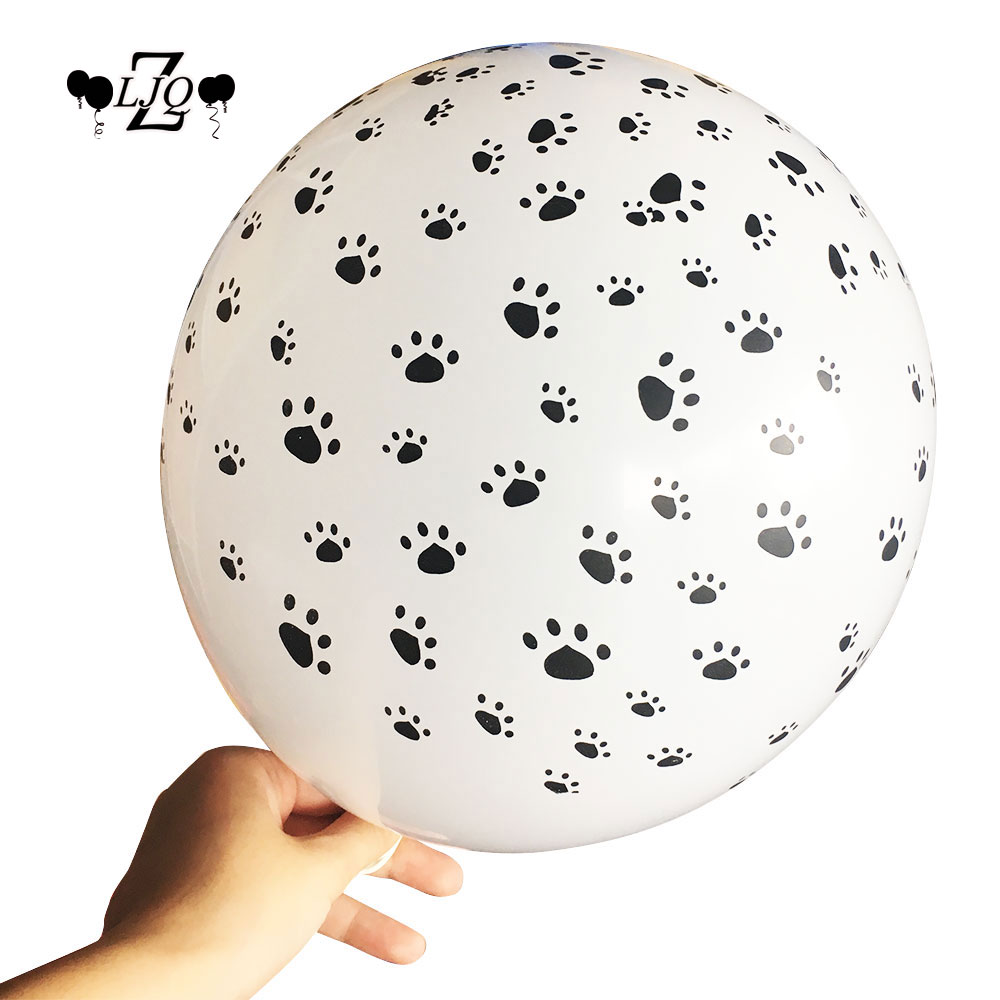 ZLJQ Cat Dog Paws Patrol Latex Balloons wedding Birthday Party Decoration Supplies Paw Print Balloon Kid Gift Baby shower Toy