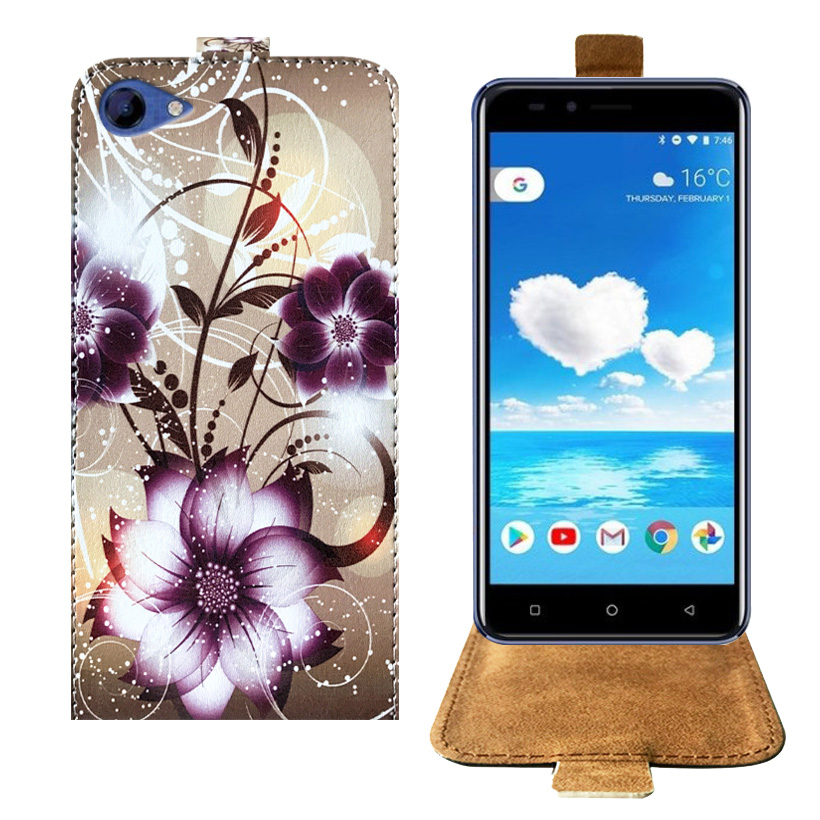 Top Selling Cartoon Painting Factory Price PU Leather Flip Case For Koolnee Rainbow Case Back Cover 5.0 Protective