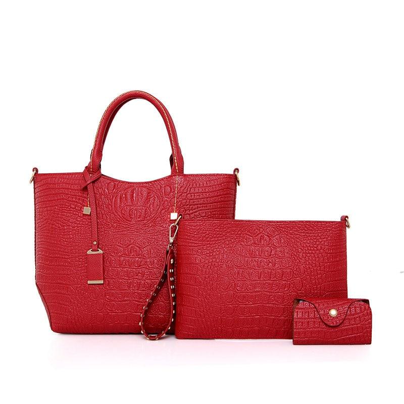 Elegant Ladies Composite Shoulder Bag Fashion Women Bags Set Famous Brand Design Handbag Clutch Wallets For Woman New composite structures design safety and innovation