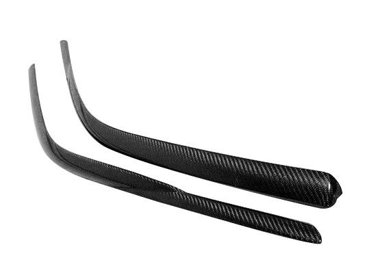 Déflecteur de vent en Fiber de carbone style voiture porte en Fiber brillante couverture de sourcil de pluie latérale Kit de réglage pour Nissan R34 GTT GTR