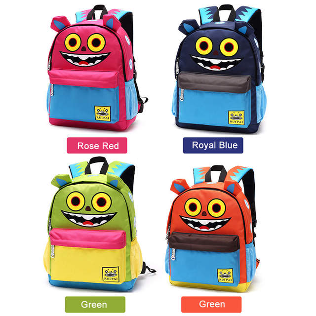 cdb63850b6d1 Online Shop RUIPAI Cute Cartoon Children s School Bag Creative Printing Backpack  Schoolbag Unique Dual Use Travel Bag CL