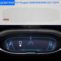 Car Styling Car Dashboard Paint Protective Glass Film For Peugeot 3008 4008 5008 2017 2018 Light