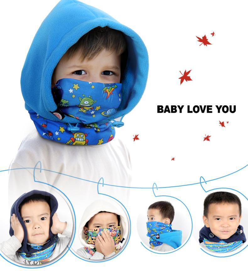 2017 kid's children Cap Full Face Mask Balaclava Hat Hood Cover Scarf Neck Hats Polar Fleece Winter Sports Warmer Caps unisex winter warm fleece full face mask head cover neck warmer scarf hat ski cycling motorcycle balaclava caps outdoor sports