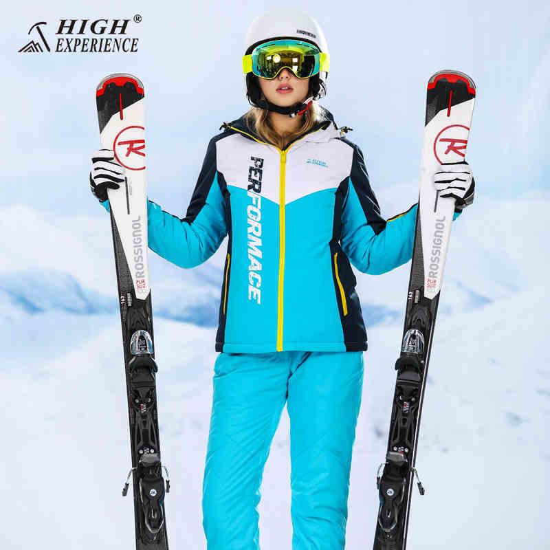 Haute Expérience Snowboard Costumes Femelle D'hiver Veste Femmes Ski Costume Femmes Sport D'hiver Costume Vestes De Neige Chaudes et Imperméables