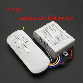220V 3 Ways Wireless ON/OFF Lamp Remote Control Switch Receiver Transmitter image