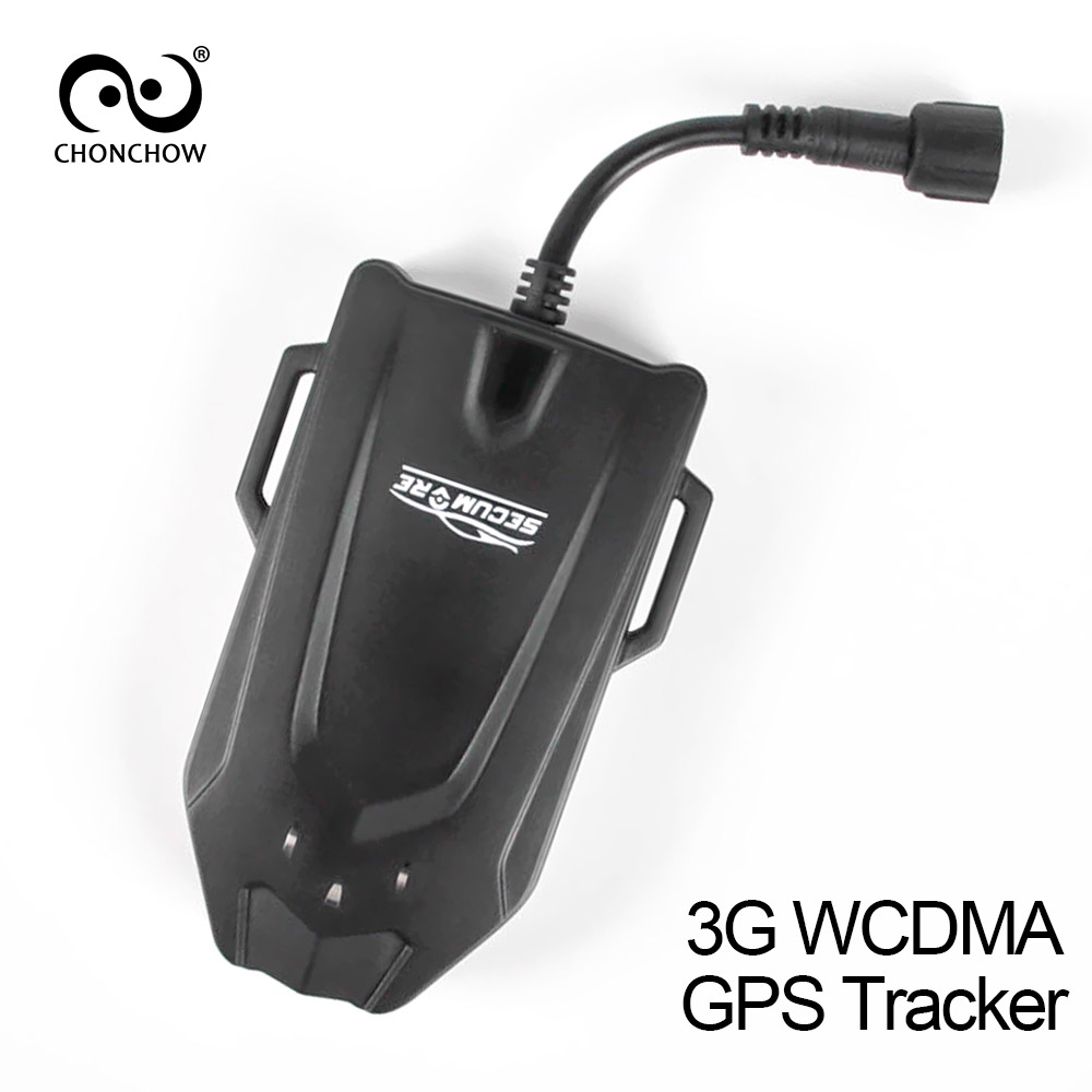 купить ChonChow 3g GPS Tracker for Car Vehicle Motorcycle Lifetime Free Platform Fleet Management WCDMA GSM GPRS Tracking недорого