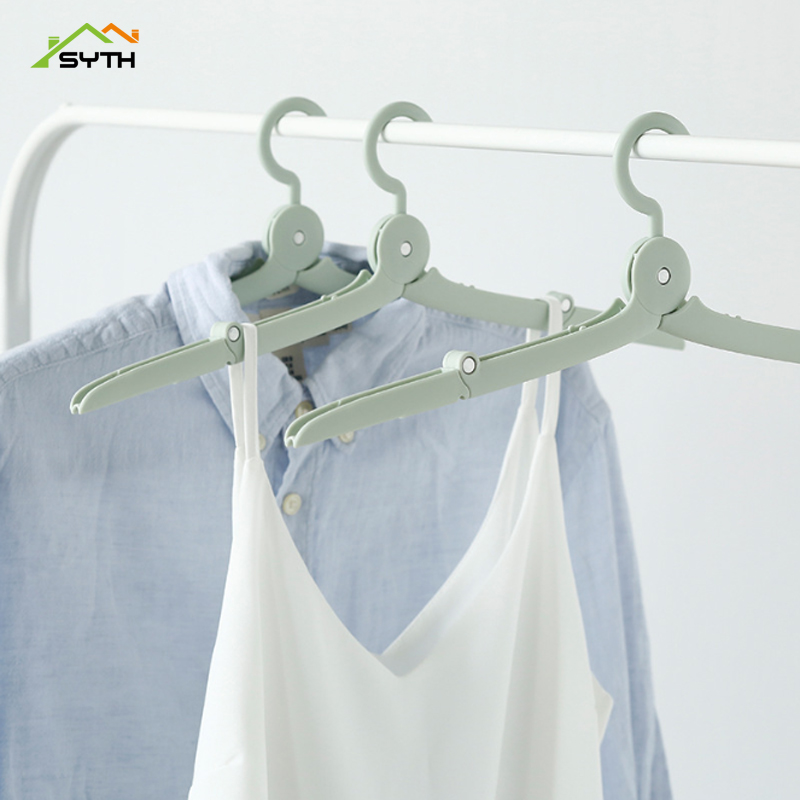 SYTH Folding Plastic Hangers With Hooks For Clothes Towel Organizer Laundry Hanger Rack Travel Outdoor And Home Wardrobe Storage in Drying Racks Nets from Home Garden