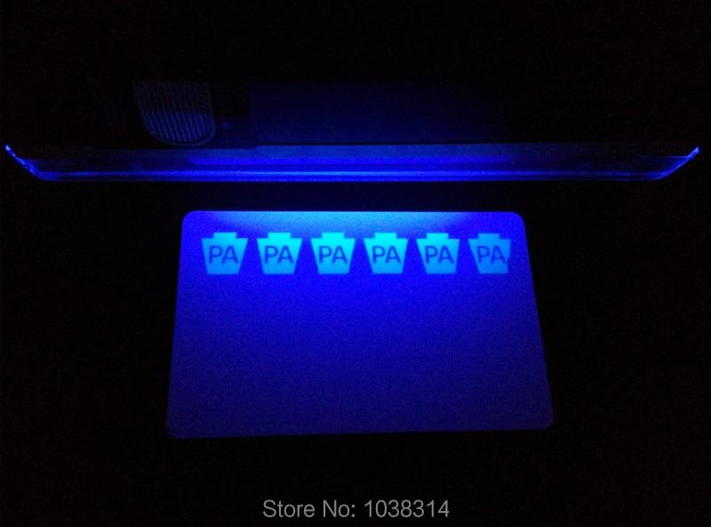 UV Ribbon blue 500prints/roll for Zebra PVC card printers P310 P330i P430i 500prints roll uv fluorescent thermal transfer ribbon for zebra id card printer p310 p330i p430i