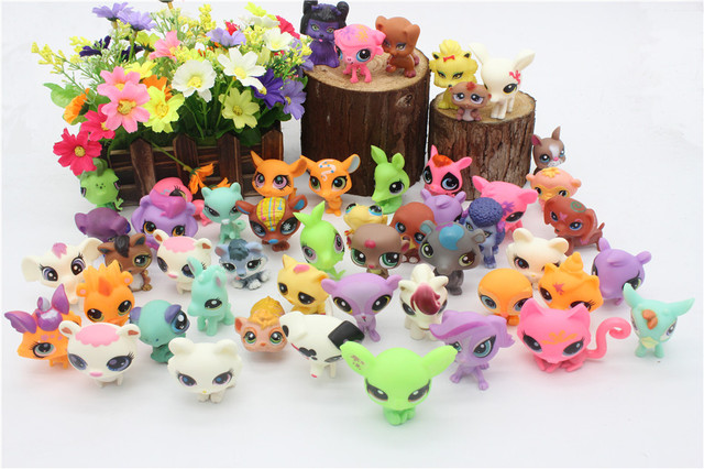 31Pcs/bag LPS Little Pet Shop Toys Littlest cartoon Animal cute Cat Dog loose Action Figures collection Kids Girl toys Gift