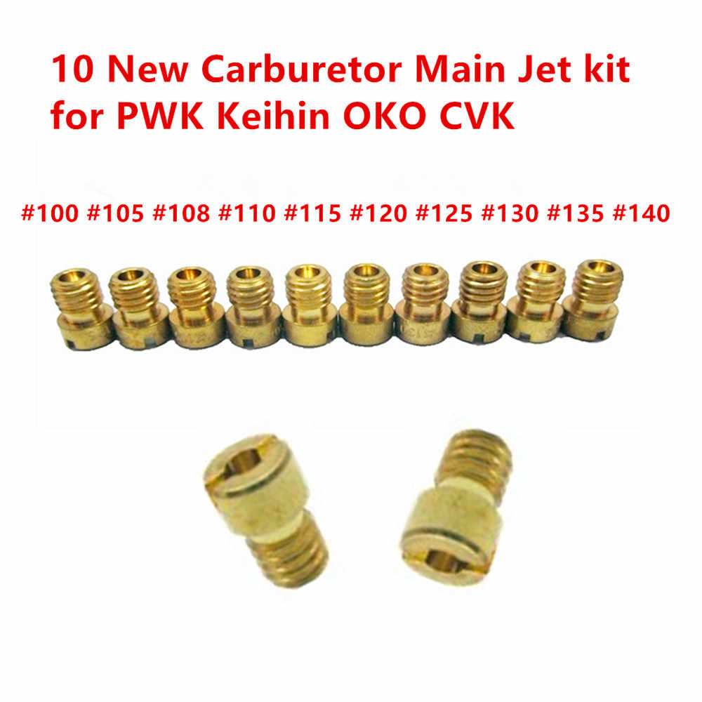 Carb Omar 10pcs Main Jet for Keihin PWK PE OKO KOSO 178//180//182//185//188//190//192//195//198//200