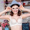 Realwill 2017 Wire Free Women Bra Lolita Style Bras Padded Lace Underwear One Piece Push Up