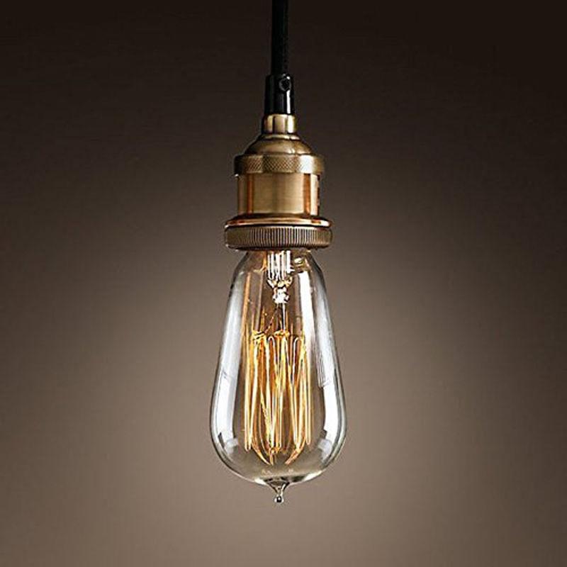 1pcs E27 Light Lamp Socket Retro Copper Ceiling Light Pendant Lamp Holder 110-240V zg9046 pendant light ac 110 240v