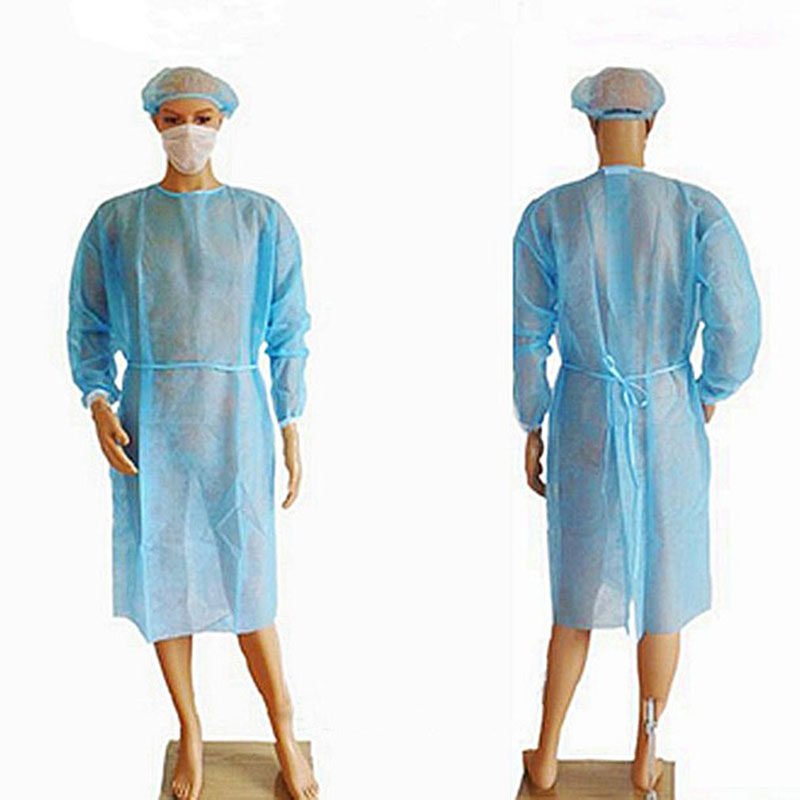 1PC Blue Tattoo Apron Disposable Sterile Clothing Medical Clean Laboratory Isolation Cover Gown For Microblading
