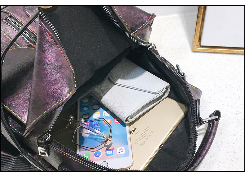 HTB14pKOaorrK1RkSne1q6ArVVXac Retro Leather Women Backpack Zipper School Backpacks For Teenage Girls Bag Large Capacity Multifunction Mochila Feminina XA227H