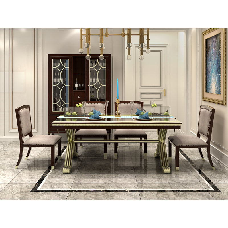 US $2788.0 |american classic 6 chairs dinning room table set dining room  furniture-in Bedroom Sets from Furniture on AliExpress