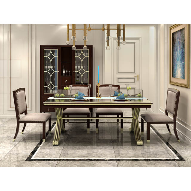 Us 2788 0 American Clic 6 Chairs Dinning Room Table Set Dining Furniture In Bedroom Sets From On Aliexpress
