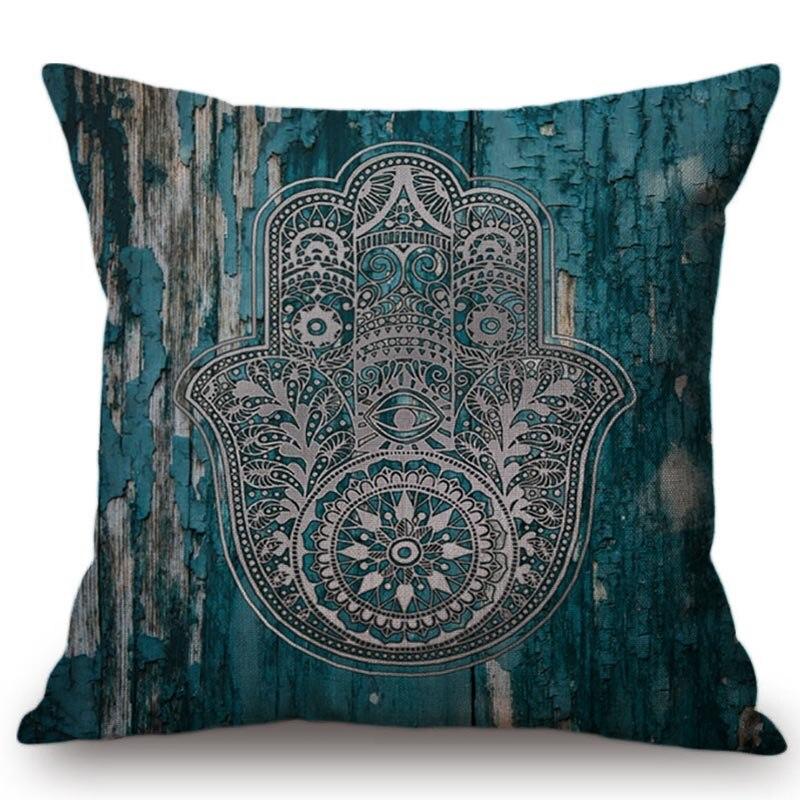 Богемия Стиль Религия palm узор Главная Диван украшения Бросить Наволочка геометрический цветок Дизайн Мандала чехлы