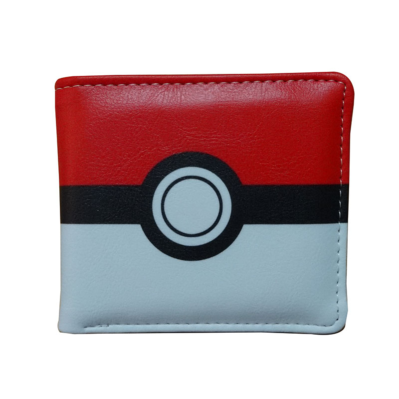 Anime Pokemon Purse Japanese Cute Cartoon Pocket Monster Pikachu Wallets Gifts Kids Boy Girl PU Leather Short Wallet carteira anime pocket monster flareon cosplay cap orange cartoon pikachu ladies dress pokemon go hat charm costume props baseball cap