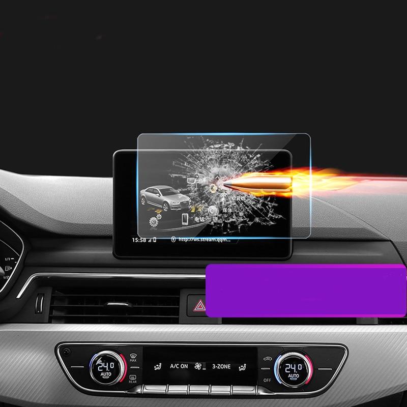 lsrtw2017 car Navigation screen Tempered film for audi q3 q5 q7 a1 a3 a4 a5 a6 a7 a8 RS5 RS6 RS7 R8 S3 s5 S6 S7 S8 sq5