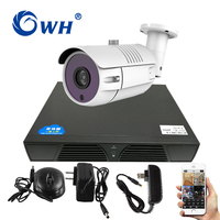 CWH 1CH AHD DVR Camera Kits 1MP 720P CCTV Security Sets with 1PCS Camera and 4CH DVR and Power Adapter HDD for Choose Phone View