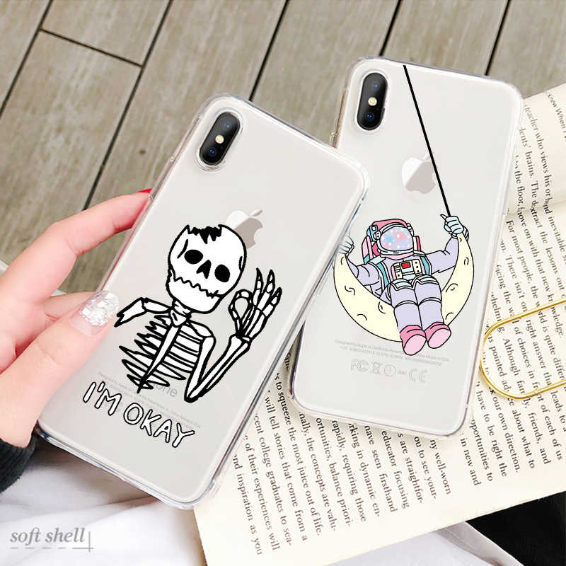 Mignon Amour Coeur Peint Téléphone étui pour iPhone 8 7 6 6 S Plus 5 S SE 5C Silicone TPU Motif Mince pour iPhone X XS MAX XR Capa