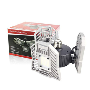 Image 5 - 각도 조정 가능한 LED 변형 가능한 차고 빛 60W E27 LED 천장 조명 창 고/지하/워크샵에 대 한 LED 에너지 절약 램프