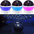 2016 Romantic New Rotating Star Moon Sky Rotation Night Projector Light Lamp Projection Kids Bed Lamp LED Toy For Kid Gift