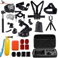 GoPro Go Pro Accessories Set For Gopro Hero 4 3 3 2 Sjcam SJ4000 SJ5000 SJ6000