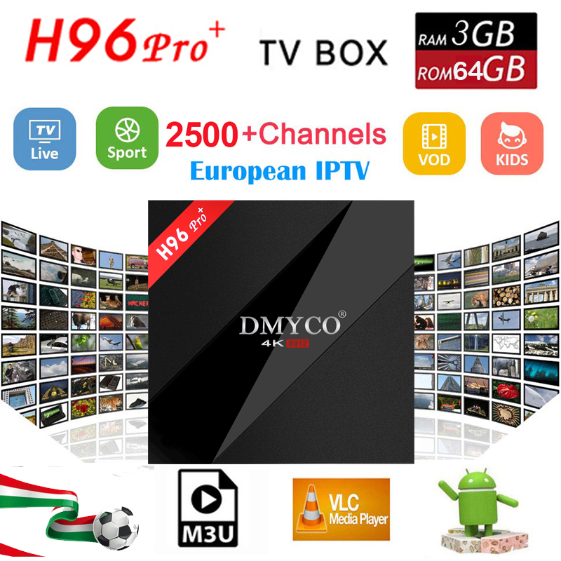 4K h96 pro Android 7.1 Smart TV Box IPTV 1 Year Abonnement SUBTV IUDTV IPTV Subscription best iptv PK Arabic Europe IPTV tv Box smart 4k x98 pro tv box android 6 0 2g 16g amlogic s912 subtv iptv subscription 8000 vod iptv europe french arabic iptv box