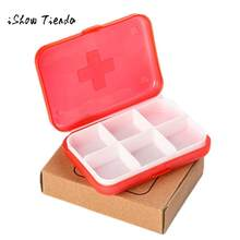 Mini 6 Slots Portable Medical Pill Box Drug Medicine Case Organizer Tablet Holder Organizer Pill Case Splitters Storage Dispense(China)