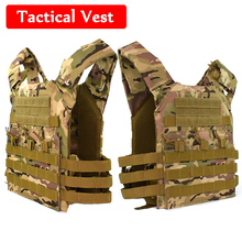 JPC Military Outdoor CS Game Airsoft Paintball Body Armor Tactical Gear Military Army Combat Vest Molle Plate Carrier Vest